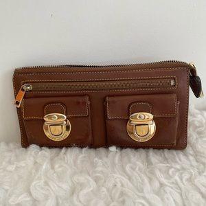 Vintage Marc Jacobs Sesame Leather Zip Clutch Bag